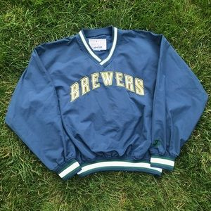 90s Starter Milwaukee Brewers Pullover Windbreaker